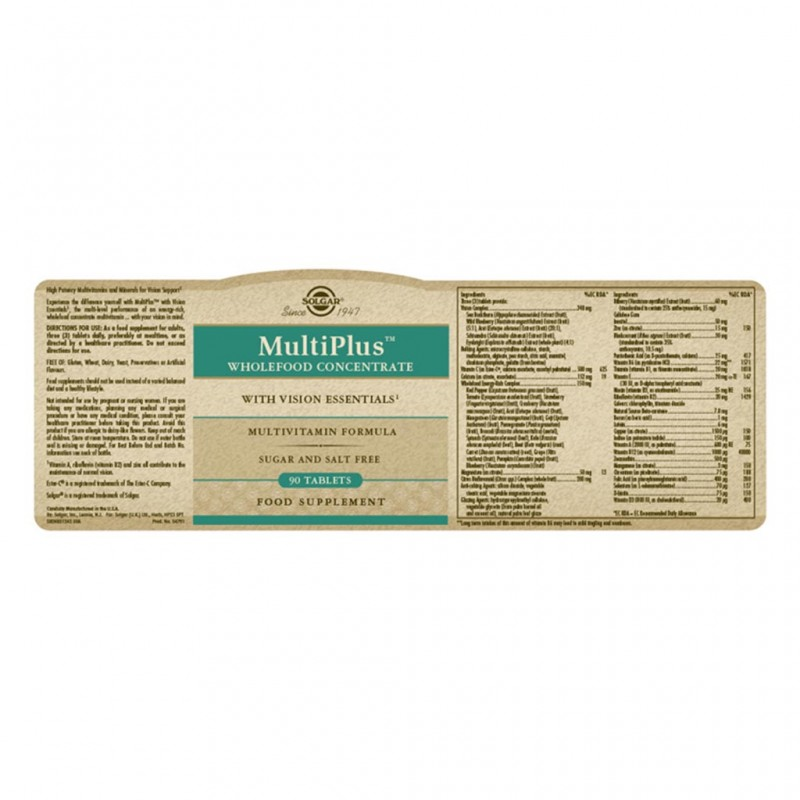 Solgar Chelated Solamins Multimineral Tablets 90s