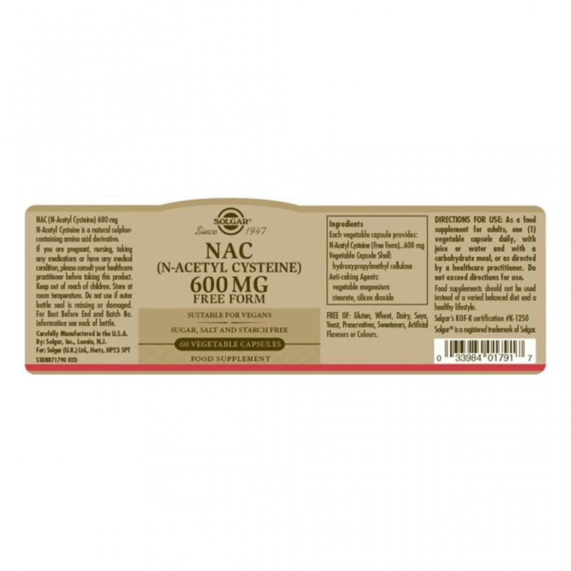 Solgar L-Lysine 500 mg Vegetable Capsules 50s