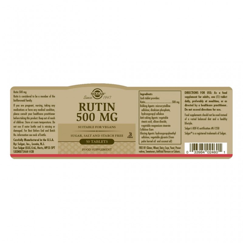 Solgar Folate 400µg (as Metafolin(R)) Tablets 50s