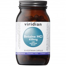 Viridian Betaine HCl 650mg...