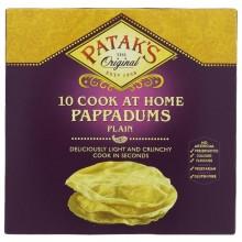 Pataks Pappadums Plain 100g
