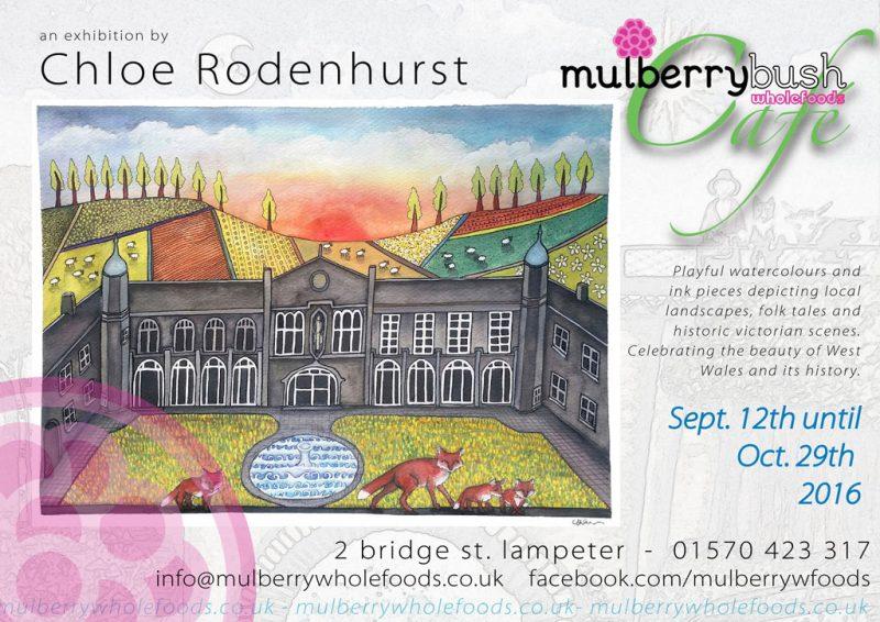 Chloe Rodenhurst art exhibition at Mulberry Wholefoods Cafe